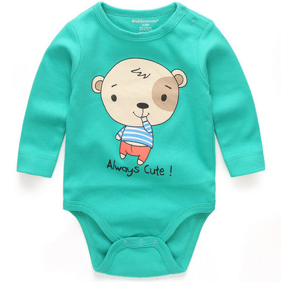 High Quality Stripe Round Collar Long Sleeves Bodysuit Baby Cheap Unisex Newborn Clothes 0-24 months