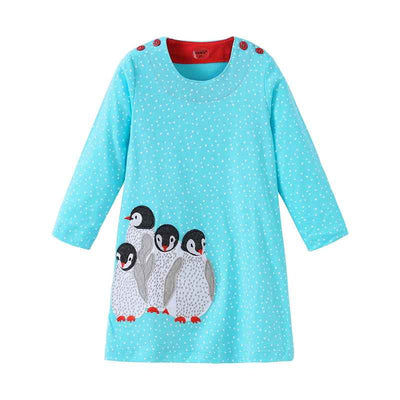 Baby Girl Dresses Striped long sleeve Princess Dresses girls Cartoon deer clothes Children for Kids Dresses for girls