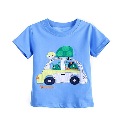 New Baby kids Boys T-Shirt Cotton Short Sleeve T-Shirt Tops Tees For Boy Kids Tops cartoon Baby Children Clothing