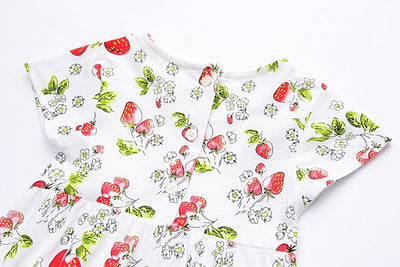 Dresses For Girls Strawberries printed Cartoon kids Girls Dress Kids Dress For Baby cotton Clothes Girls Party Princess