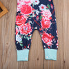 born Infant Baby Girls Clothes Floral Short Sleeve Romper Stitching Jumpsuit Tracksuit Outfits Sunsuit Clothing