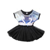 Kid Girls Birthday Gift Dresses Toddler Baby Girls Princess Party Tutu Lace Swan Ruffled Stitching Dress 1-6Y