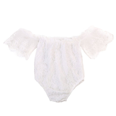 Summer Cute Newborn Baby Girl Lace Off Shoulder Romper Sexy Jumpsuit Outfit Sunsuit Clothes