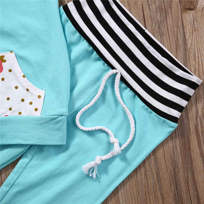 Baby Boys Girls Clothes Set Warm Outfits Deer Tops Hoodie Top Pant Leggings Cute Animals Kids Baby Clothes