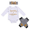 born Baby Clothing Toddler Baby Girl Tops Long Sleeve Romper+ Leg Warmer +Headband 3Pcs Outfit Set Clothes 0-24M