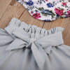 Newborn Baby Girls Clothes Sets Long Sleeve Floral Clothes bow-knot Skirt Outfit Set Clothing Set Baby Girl 0-24M