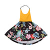 Summer Infant Baby Girls Floral Halter Dress Floral Stitching Bow-knot Sleeveless Sundress Clothes Baby Girl Dress 0-4Y