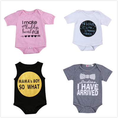 5Style ! Spring Summer Baby Boys Girls Clothes Newborn Baby Girls Boys Clothes Short Sleeve Romper Jumpsuit Sunsuit Outfit Set