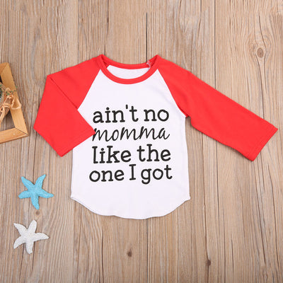 1Pcs Newborn Infant Baby Boys Tops Long Sleeve Patchwork Letter T-Shirt Outfits T-Shirts Clothes