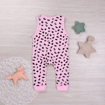 Baby Clothing Baby Kids Girl Infant Pocket Romper Dairy Cattle Spot Jumpsuit Cotton Clothes Outfits Set