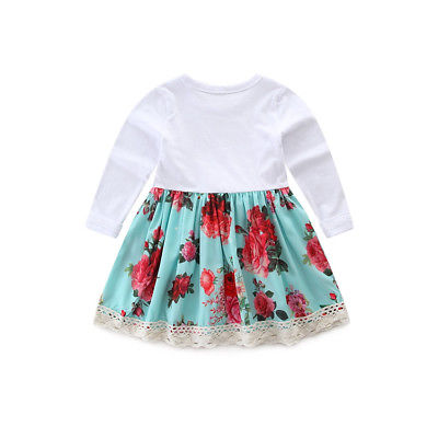3Pcs Toddler Newborn Baby Girls Floral Dress Tops+ Polka Dot Flares Pants+Headband Outfits Children Clothes