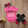 3Pcs Newborn Baby Girls Kid Rompers Polk Dot Leggings Clothes