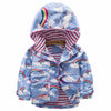 Baby Girls Jackets for Kids Cloths Hooded Windbreaker Outerwear Girls Coat Rainbow Print Children Jacket
