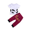 Clothing Baby Girl Kid Toddler Casual feather T-shirt Tops+queen Hip Hop Pants Outfit Clothes