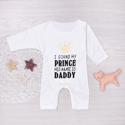 Baby Clothing Infant Baby Long Sleeve Cotton Romper Crown Sun suit Jumpsuit Outfits Baby Clothes