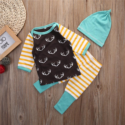 Baby Boys Girls Autumn Sleepwear Clothing Sets Boy Girl Pajamas Set Cartoon Pijamas Kids Short Pyjamas Children Clothes