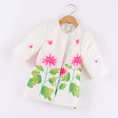 2pcs/set,girl clothing sets formal kids clothes cute girls tracksuit sets children clothing suit coat+dress for girl