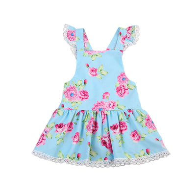 Baby Girls Toddler Kids Dress Party Princess Wedding Back Cross Dresses