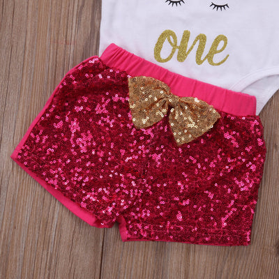 Baby Clothing Infant Baby Girls Letter Printed Romper Tops Sequins Pants Wave Striped Warm Legging Outfits Clothes