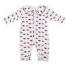 born Infant Baby Boys Girls Dogs Romper Turn-down Collar Long Sleeve Jumpsuit Outfits Clothes