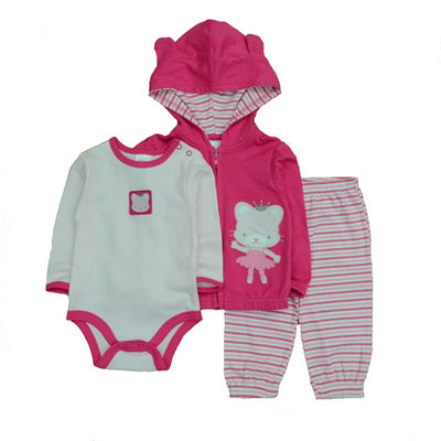Fashion Style Baby Boy Clothing Set 3pcs Suits Coat Bodysuit Pants Cotton Long Sleeve Winter Newborn Baby Boys Clothes