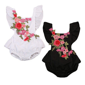 born Baby Girl Rose Romper