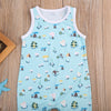 born Baby Boys Sleeveless Romper printing Jumpsuit Outfit Sun suit Clothes