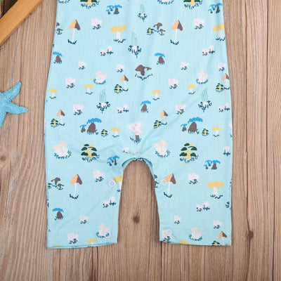 Newborn Baby Boys Sleeveless Romper printing Jumpsuit Outfit Sun suit Clothes