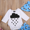 born Toddler Baby Girls Boy Long Sleeve Cloud Romper+ Pants Outfit Set Baby Clothes