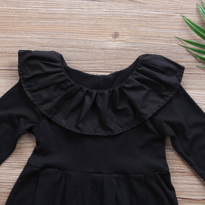 Newborn Baby Girls Ruffle Collar Long Sleeves Romper Harem Ruffles Sunsuit Jumpsuit Outfits Clothes