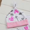 Newborn Baby Girl Letter Long Sleeve Romper+ Arrow Pants Hat Headband Outfits Clothes