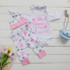 born Baby Girl Letter Long Sleeve Romper+ Arrow Pants Hat Headband Outfits Clothes