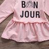 Baby Girls Dress Toddler Kids Autumn Long Sleeve Letter Clothes Party Children Dress