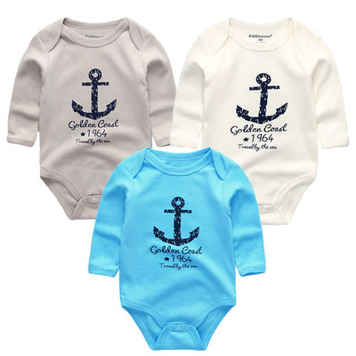 3pcs/lot Baby Bodysuits Cotton Body Baby Girl Boy Clothes Long Sleeve Infant Overalls Bodysuit Newborn Clothing baby product