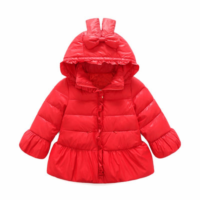 Baby girls cute clothing baby kids down jackets hooded padded coat children's clothes outerwear jacket