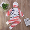 Baby Clothing Baby Boys Girls whale Tops T-shirt Striped Pants Hat Outfits Clothes