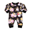Baby Clothing Cotton Baby Girl Long Sleeve Floral Romper Jumpsuit Outfits Clothes