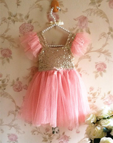 Pink Princess Baby Girls Dress Party Gown Formal Dresses