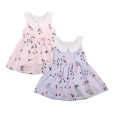 Summer Toddler Baby Girl Bow Princess Dress Sleeveless Flower Party Wedding Princess Dresses