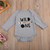 Baby Clothing Cotton born Infant Baby Boys Long Sleeve Romper Letter Printed Sun suit Boys Clothes Outfits