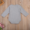 Baby Clothing Cotton Newborn Infant Baby Boys Long Sleeve Romper Letter Printed Sun suit Boys Clothes Outfits