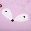 2PCS Set Baby Clothing Toddler Infant Baby Girl Boy Fox Ear Long Sleeve Tee+Pants Long Outfits Costume Set