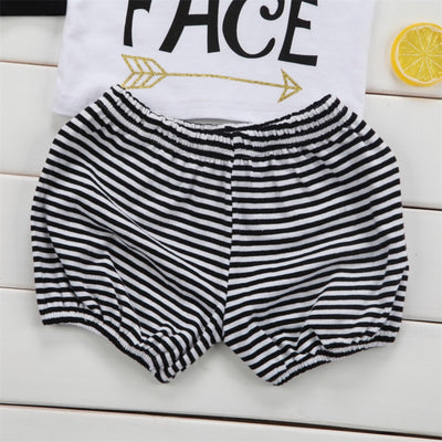 Baby Clothing Newborn Kids Toddler Baby Girl Clothes Long Sleeve T-Shirt+ Striped Pants+Headband Sunsuit Outfit Set