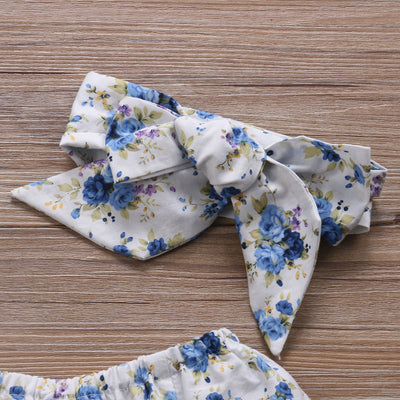Baby Clothing Newborn Kid Baby Girls Boys Floral Long Sleeve Romper Jumpsuit +Headband Outfit Set