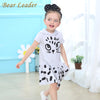 Girls Clothes Casual Summer Hooded Cartoon Pattern Design for Children Dress for Girls