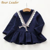 Girls Dress Baby Girls Blouse Lace Bow Kids Dress Children Clothing Dress