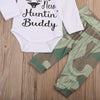 Baby Clothing born Long Sleeve Baby Boy Romper+ Camouflage Pants 3pcs Outfits Clothes Set