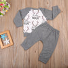 Kid Boys Clothing Kids Boys Long Sleeve T-shirt Outfits Pants Set Deer Clothes