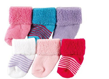 Baby & kids accessories 100% soft cotton socks for baby newborn  I Love Baby Socks 0-6 Months