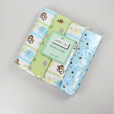 4pcs/lot cotton flannel baby blankets cotton blanket throws baby blanket grasping carpet